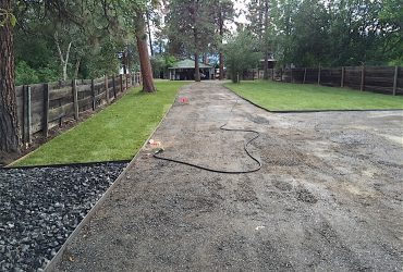 installation of sod and irrigation