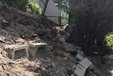 backyard in the middle of construction
